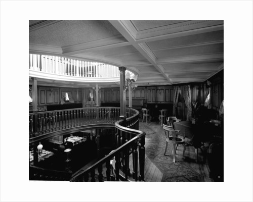 First Class Music and Recreation Room on the 'Highland Loch' (1911) by Bedford Lemere & Co.