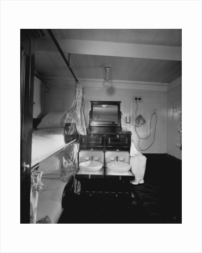 First Class stateroom on the 'Royal George' (1907) by Bedford Lemere & Co.