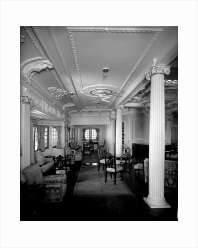 First Class Music Room on the 'Indarra' (1912) by Bedford Lemere & Co.