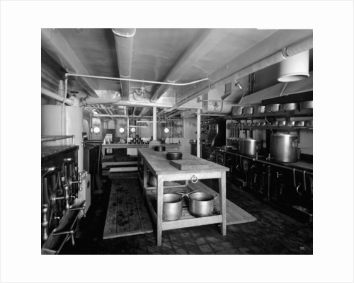 Passenger Galley on the 'Llandovery Castle' (1914) by Bedford Lemere & Co.