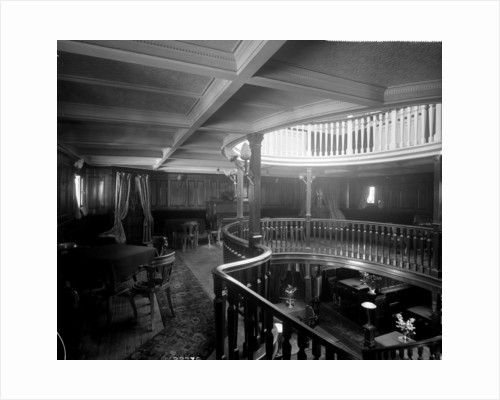 First Class Music and Recreation Room on the 'Highland Brae' (1910) by Bedford Lemere & Co.