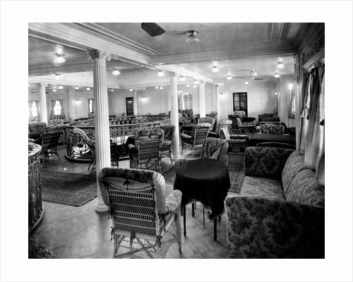 First Class Smoking Lounge on the 'Niagara' (1913) by Bedford Lemere & Co.