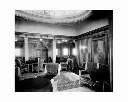 First Class Smoking Room on the 'Niagara' (1913) by Bedford Lemere & Co.