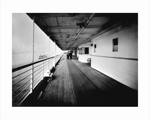 Promenade Deck on the 'Niagara' (1913) by Bedford Lemere & Co.