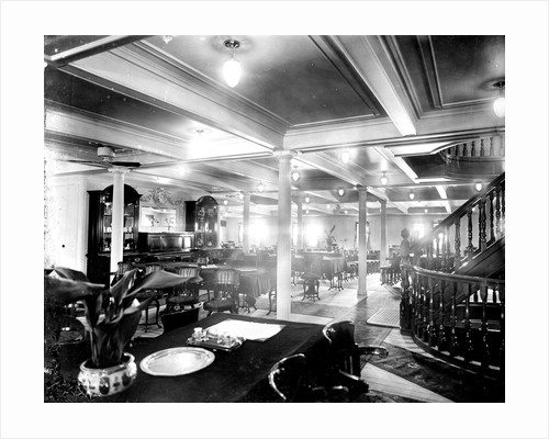 Second Class Dining Saloon on the 'Niagara' (1913) by Bedford Lemere & Co.