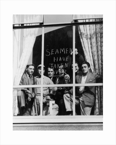 Striking Seamen, barricaded into the National Union of Seamen Office by unknown