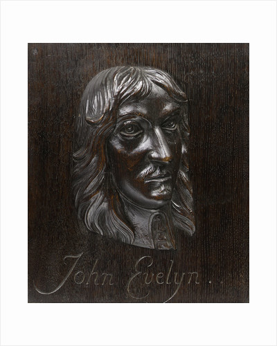 John Evelyn (1620-1706) by Grinling Gibbons