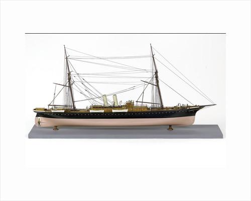 Passenger liner, starboard broadside by unknown