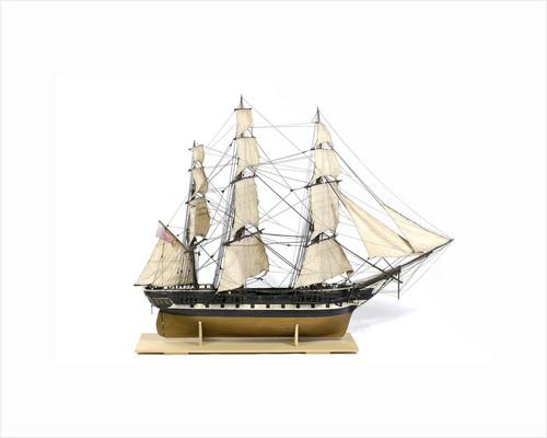 Frigate, starboard broadside by unknown