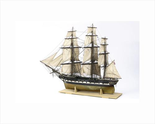 Frigate, port stern quarter by unknown