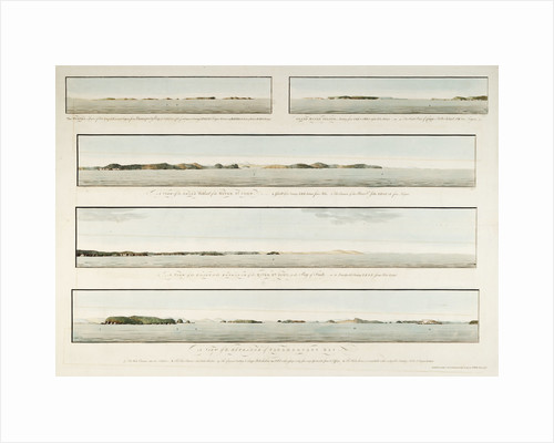 Five views in the Bay of Fundy by J. F. W. Des Barres