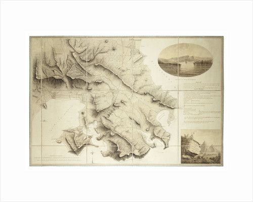 Plan of the environs of English Harbour, Antigua by John Brown