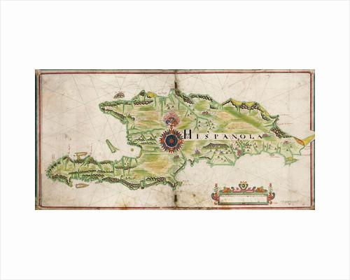 Map of Hispaniola, 1653 by Nicholas Comberford