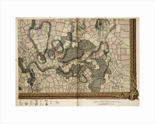 Map of Mottingham, Bromley and Chislehurst by John Rocque