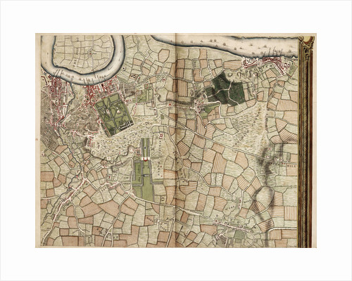 Map of Deptford, Greenwich, Woolwich, Blackheath and Eltham by John Rocque