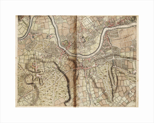 Map of Barnes, Battersea, Putney and Wandsworth by John Rocque