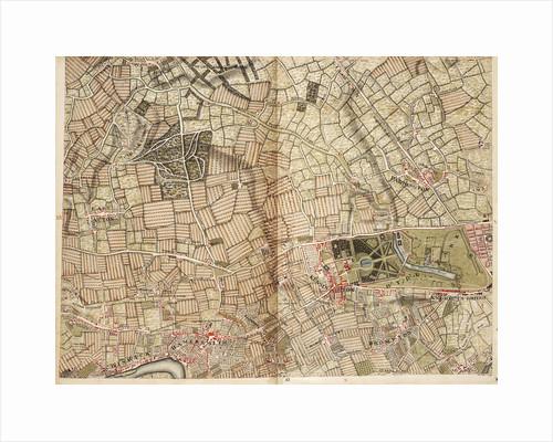 Map of Acton, Paddington, Hyde Park and Kensington by John Rocque