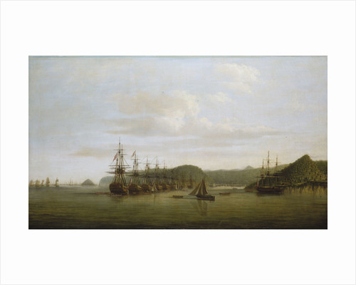 Barrington's action at St Lucia: the squadron at anchor off the Cul de Sac after the action, 16 December 1778 by Dominic Serres the Elder
