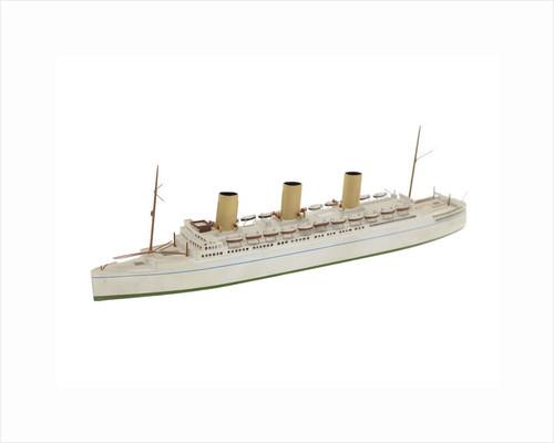 Waterline model; Rigged model; Miniature model by Bassett-Lowke Ltd
