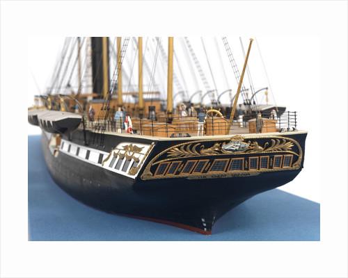 Ship model of the passenger/cargo vessel SS 'Great Britain' (1843) by Bassett-Lowke Ltd