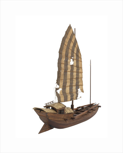 A model of a cargo vessel; River Junk, China by unknown