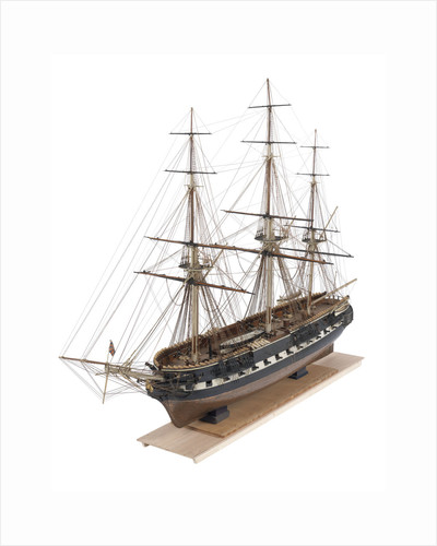 A full hull and rigged model of the warship and 36-gun frigate 'Phoebe' (1795) by unknown