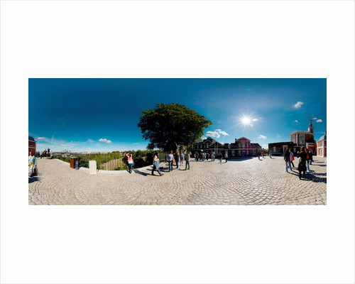 Panoramic courtyard view of the Royal Observatory, Greenwich by National Maritime Museum Photo Studio
