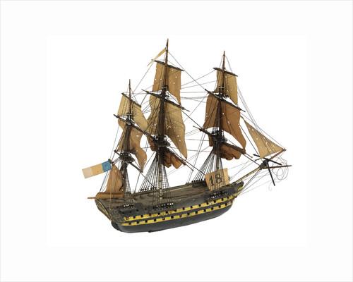 'Algeciras'; warship; 74 guns by William Haines