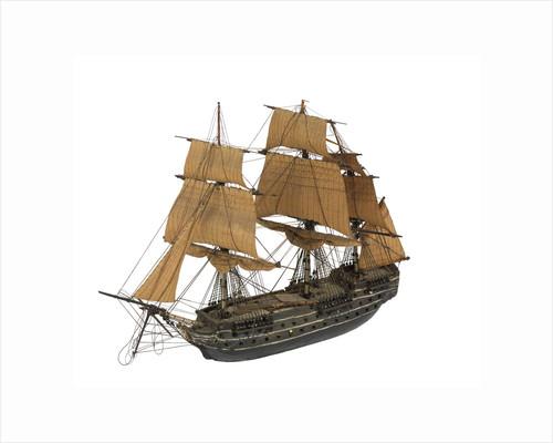 'San Justo'; warship; 74 guns by William Haines