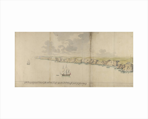 A prospect from Corbeir Castle tp Point Langle upon the north-west part of Guernsey by Thomas Phillips