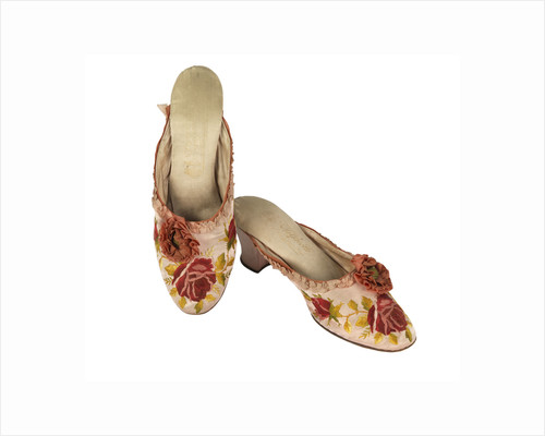 Silk slippers by unknown