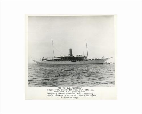 Photograph of S.Y Marynthea (1911) by H Gordon Selfridge