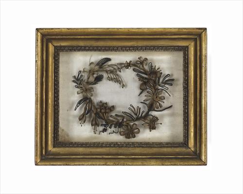 Wreath made from hair by Emma Hamilton