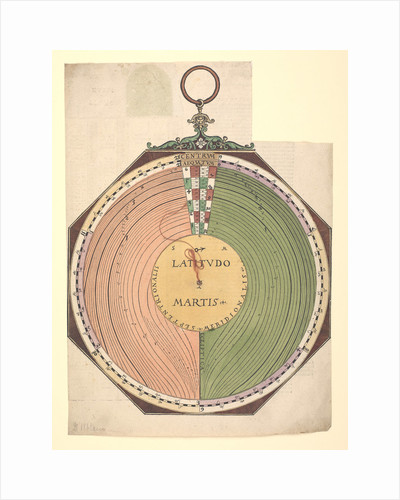 Volvelle to determine the latitude of Mars and the general rule which enables one to find the position of celestial bodies during the time before Christ by Peter Apian