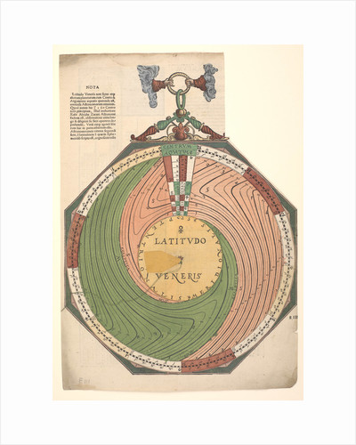 Volvelle for determining the latitude of Venus by Peter Apian