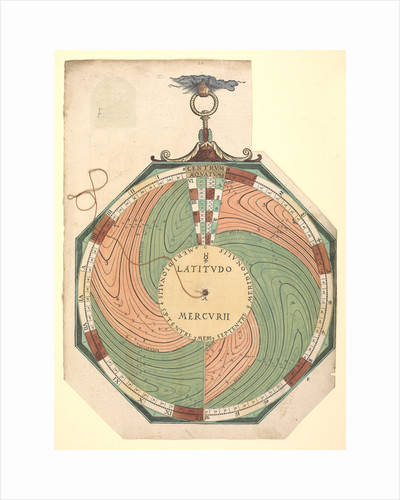 Volvelle for determining the latitude of Mercury by Peter Apian