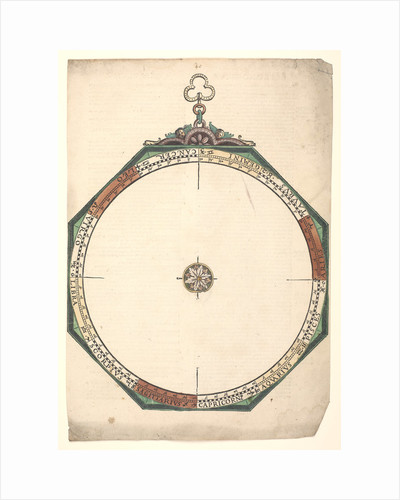 Volvelle to illustrate an astrological attempt to deduce the hour of conception and the ascendant at birth by Peter Apian
