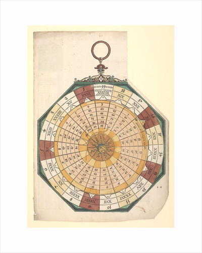 Volvelle for finding the quantity and dates of moveable feasts necessary for the establishment of the Julian calendar by Peter Apian