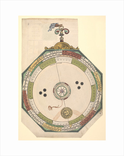 Volvelle giving the path of the Sun and its representation, without calculation by Peter Apian