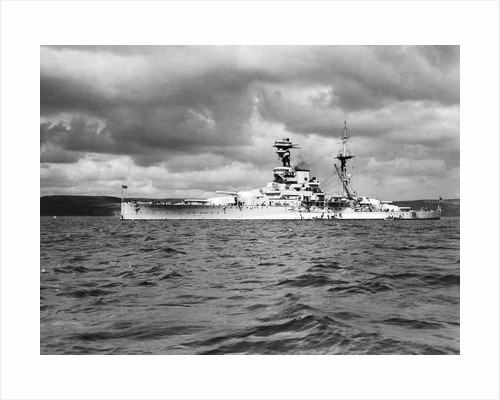 Battleship HMS 'Ramilies' (1916) in 1939 by unknown