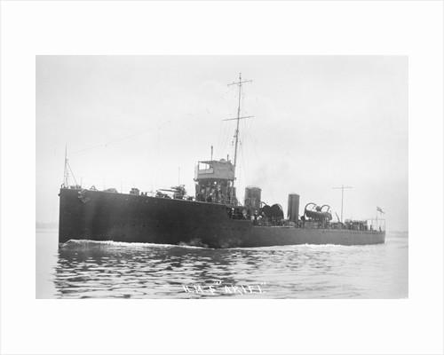 Torpedo boat destroyer HMS 'Ariel' (1911) by unknown