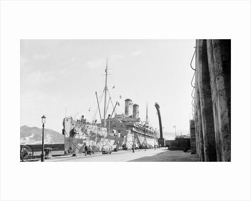 Armed merchant cruiser 'Orama' (1911) in drydock at Simonstown, 1917 by Engineer-Lieutenant W.G. Turner