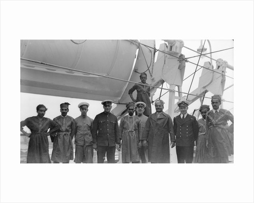 Crew aboard P&O passenger liner 'Strathnaver' (Br, 1931) by unknown