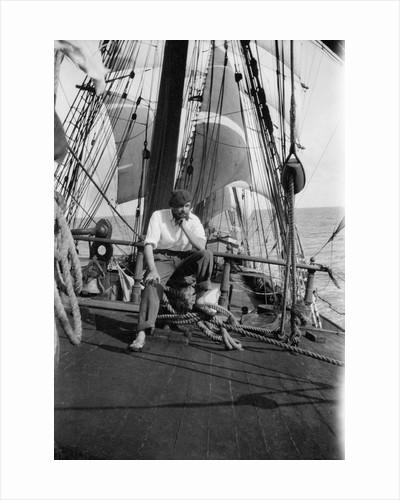 Alan Villiers aboard the 'Grace Harwar' by Alan Villiers