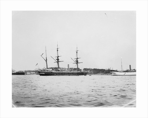 HMS 'Penguin' (1876) and USS 'Celtic' (1891) moored at Sydney Harbour by Willoughby Pudsey Dawson