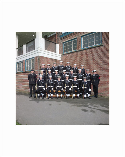 HMS Ganges formal guard group photograph, 30th March 1975 by Reginald Arthur Fisk