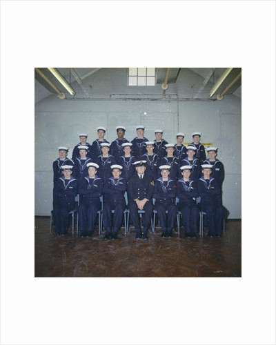 HMS Ganges formal class group photograph for Leander 042, 25th January 1976 by Reginald Arthur Fisk