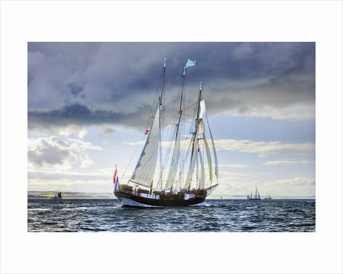 Topsail schooner 'Oosterschelde' during Hartlepool Parade of Sail 2010 by Richard Sibley