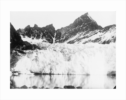 The ice cliffs of the snout of Hamberg Glacier, Moraine Fjord, South Georgia by unknown