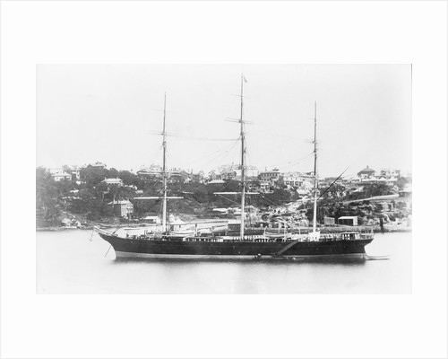 'Miltiades' (Br, 1871) at anchor by unknown